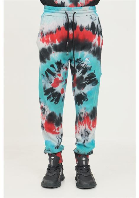 Printed men's trousers by mauna kea, casual model with allover print MAUNA-KEA | Pants | MKS227_C2629GALAXY