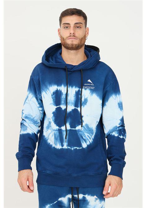 Blue men's tie-dye hoodie by mauna kea MAUNA-KEA | Sweatshirt | MKS622_SC28SHIBORI