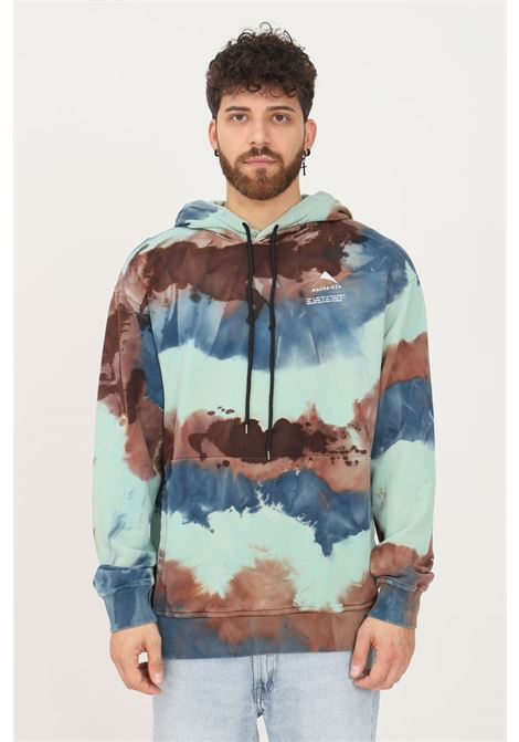 Green men's tie-dye hoodie by mauna kea MAUNA-KEA | Sweatshirt | MKS622_TLR14MULTICOLOR