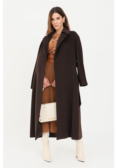 Cappotto donna marrone max mara con cintura in vita MAX MARA | Cappotti | 60161213600015