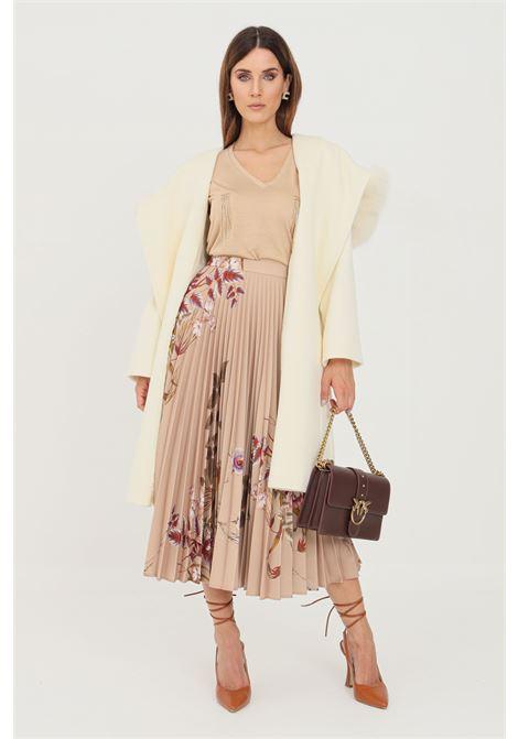 Cappotto donna bianco max mara con pelliccia MAX MARA | Cappotti | 60161319600001