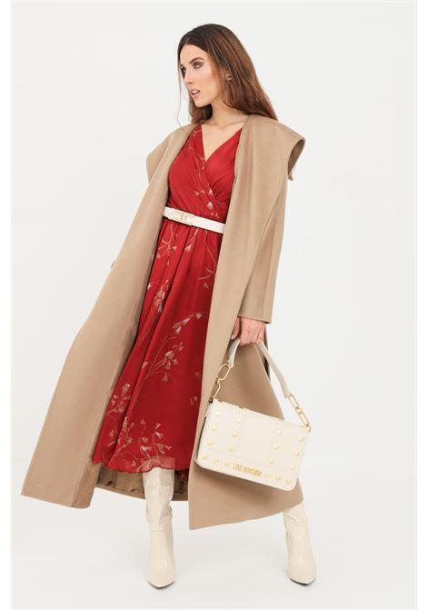Camel women's jacket by max mara with belt MAX MARA | Coat | 60162019600006