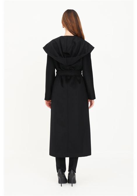 Black women's jacket by max mara with belt MAX MARA | Coat | 60162019600013