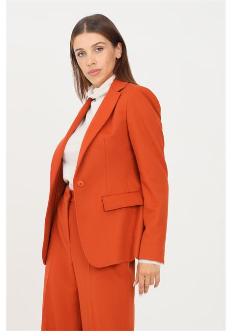 Giacca donna terracotta max mara con tasche finte frontali MAX MARA | Giacche | 60460513600006