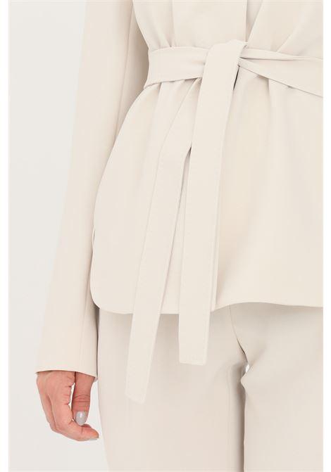 Giacca donna avorio max mara con cintura in vita MAX MARA | Giacche | 60461519600008