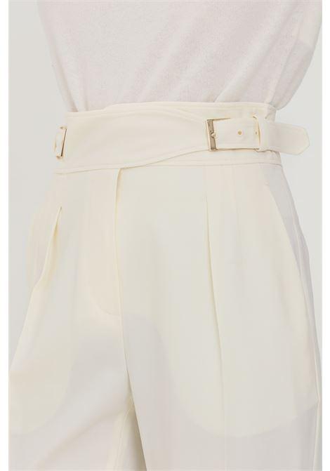 Pantaloni donna avorio max mara elegante con finta cintura in vita MAX MARA | Pantaloni | 61360113600001