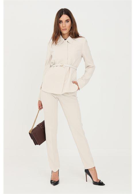 Pantaloni donna panna max mara eleganti regular MAX MARA | Pantaloni | 61360519600008
