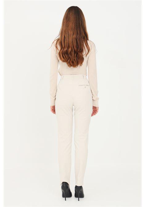 Pantaloni donna avorio max mara elegante slim fit MAX MARA | Pantaloni | 61361019600001