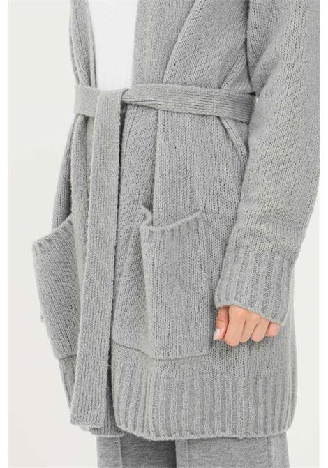 Cardigan donna grigio max mara in lana con cintura MAX MARA | Cardigan | 63460619600004