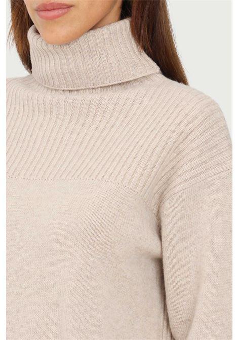 Maglioncino donna beige max mara a collo alto MAX MARA | Maglieria | 63660613600004