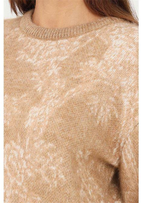 Maglioncino donna cammello max mara a girocollo MAX MARA | Maglieria | 63661713600005