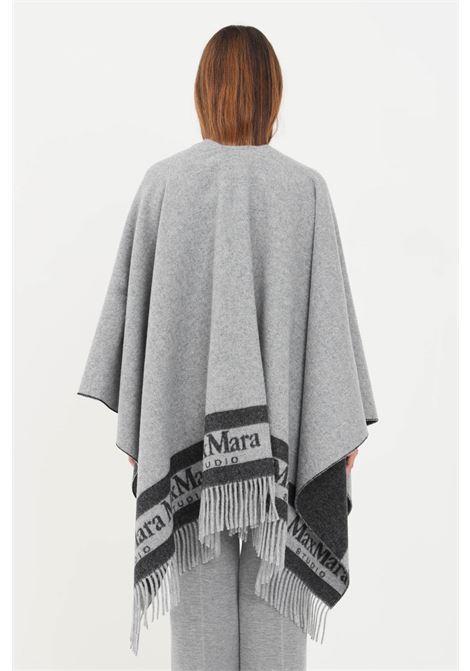 Mantella donna grigio max mara senza chiusure e frange inferiori MAX MARA | Mantelle | 67360219600001