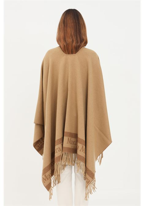 Mantella donna cammello max mara senza chiusure e frange inferiori MAX MARA | Mantelle | 67360219600002