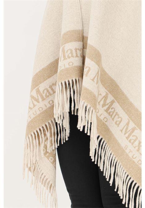 Mantella donna beige max mara senza chiusure e frange inferiori MAX MARA | Mantelle | 67360219600003