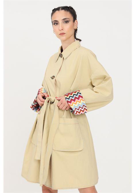 Giubbotto donna beige missoni trench chiusura con bottoni MISSONI | Giubbotti | 2DA0004841014