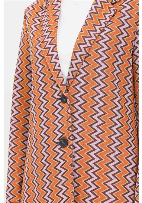 Cappotto donna arancio lilla missoni taglio lungo MISSONI | Cappotti | 2DA00049S205O