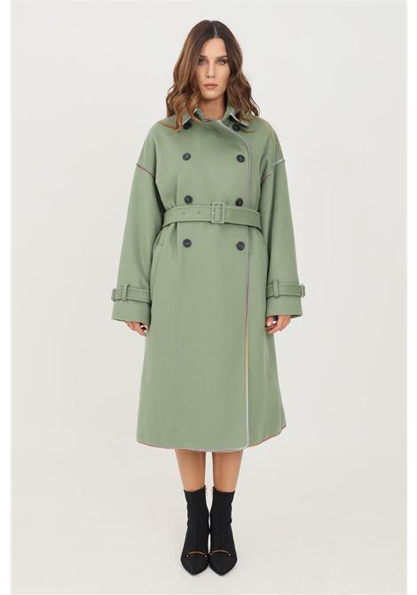 Green women's coat by missoni long cut MISSONI | Coat | 2DA0005176212