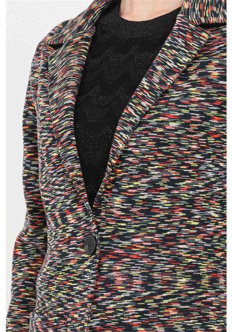 Giacca donna multicolor missoni con trama fantasia allover MISSONI | Giacche | 2DF00098F901K