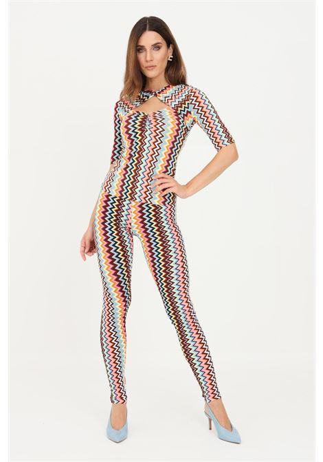 Multicolor women's leggings by missoni with geometric print MISSONI | Leggings | 2DI00327SM59B