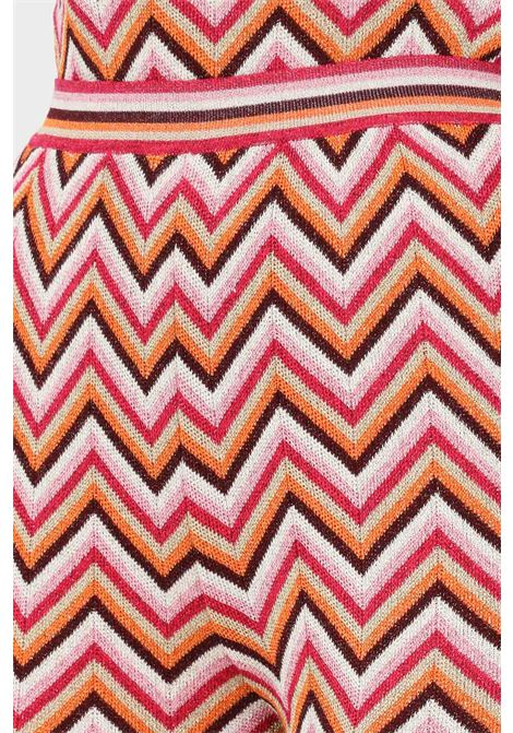 Pantaloni donna multicolor missoni elegante con stampa geometrica MISSONI | Pantaloni | 2DI00338L303F