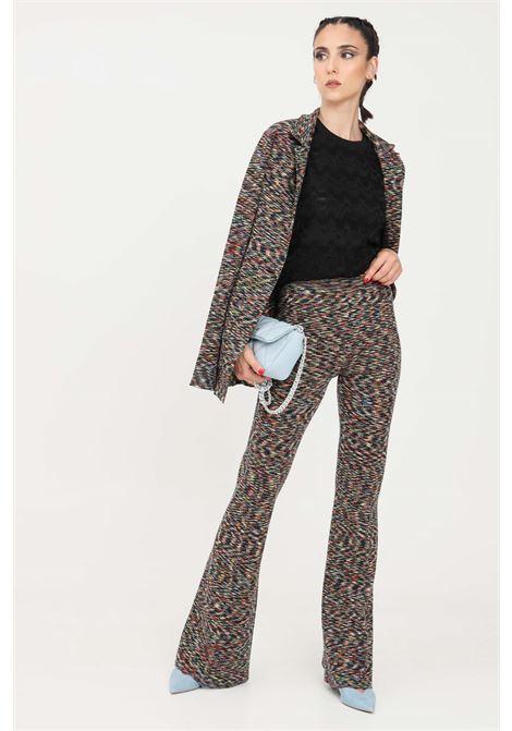Pantaloni donna multicolor missoni elegante modello a zampa MISSONI | Pantaloni | 2DI00352F901K
