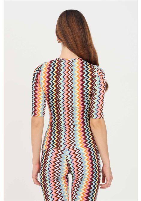 Multicolor women's t-shirt by missoni with geometric print MISSONI | T-shirt | 2DK00109SM59B