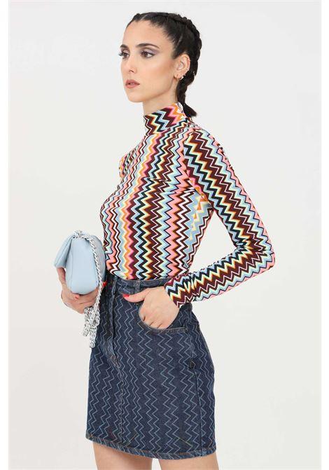Maglia donna multicolor missoni a collo alto modello fine MISSONI | Maglieria | 2DK00110SM59B