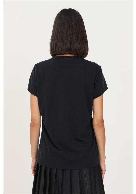 Black women's t-shirt by missoni with front M print, short sleeve MISSONI | T-shirt | 2DL0010793911