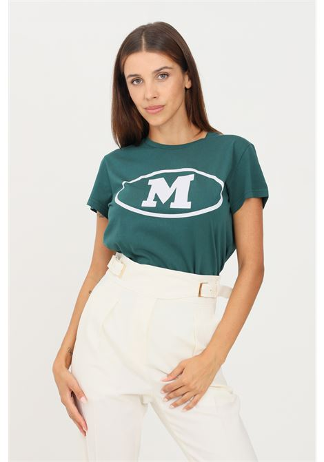 Green women's t-shirt by missoni with front M print, short sleeve MISSONI | T-shirt | 2DL0010795320