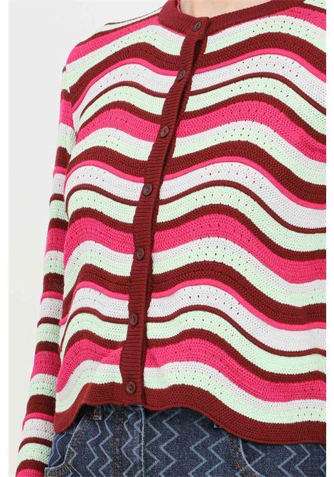 Cardigan donna multicolor missoni chiusura con bottoncini MISSONI | Cardigan | 2DM00171S308U