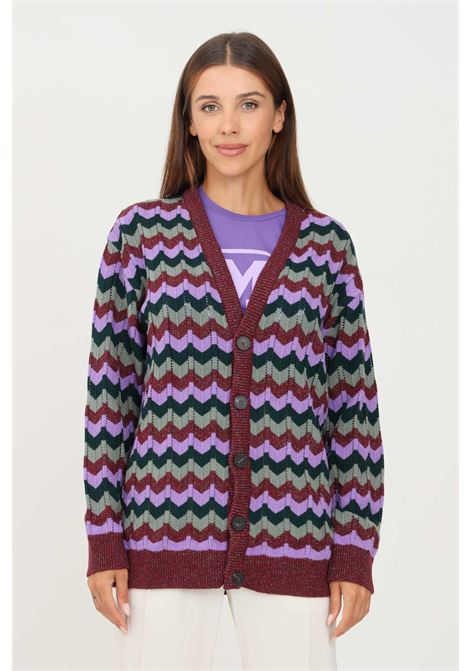 Multicolor women's cardigan by missoni with geometric weft MISSONI | Cardigan | 2DM00188SM59Z