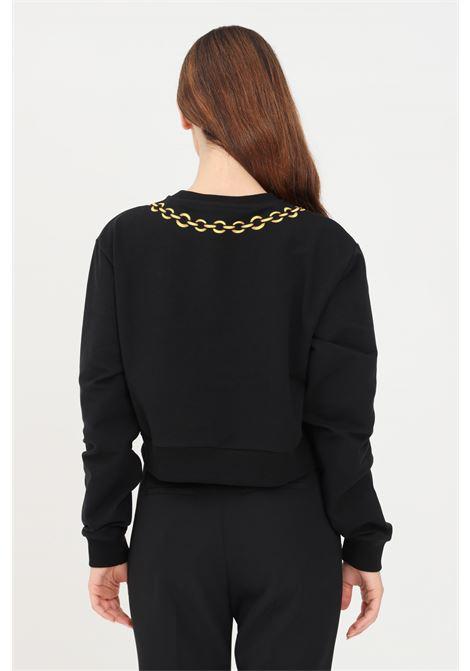 Black women's crew neck sweatshirt with print moschino MOSCHINO   T-shirt   A170626040555