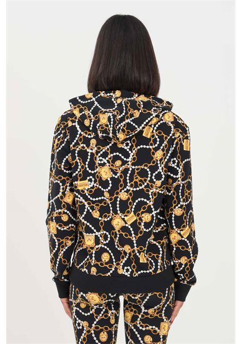 Fantasy women's sweatshirt by moschino with hood and allover print MOSCHINO | Sweatshirt | A170990081555