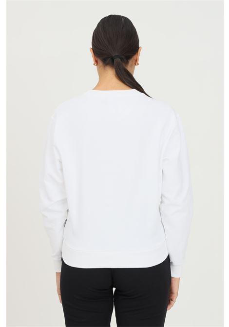 White women's sweatshirt by moschino, crew neck model with front bear print MOSCHINO | Sweatshirt | A171390040001