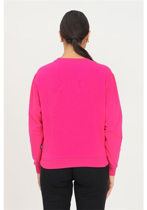 Fuchsia women's sweatshirt by moschino, crew neck model with front bear print MOSCHINO | Sweatshirt | A171390040210