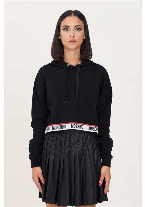 Black women's hoodie by moschino  MOSCHINO | Sweatshirt | A172190040555
