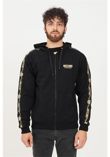 Felpa uomo nero moschino con zip MOSCHINO | Felpe | A172781110555