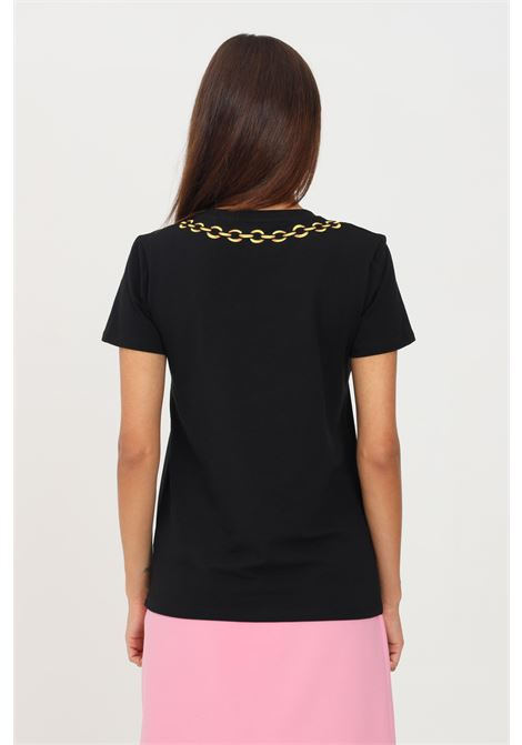 Black women's t-shirt by moschino with front print short sleeve MOSCHINO | T-shirt | A190726030555
