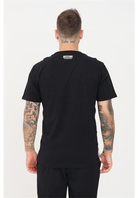 T-shirt uomo nero moschino a manica corta MOSCHINO | T-shirt | A191381250555