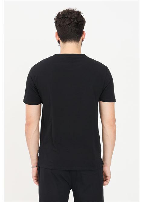 T-shirt uomo nero moschino a manica corta con logo sul fronte MOSCHINO | T-shirt | A192481030555
