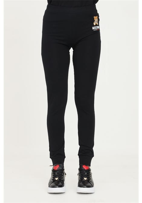 Black women's trousers by moschino with elastic cuffs MOSCHINO | Pants | A430590030555