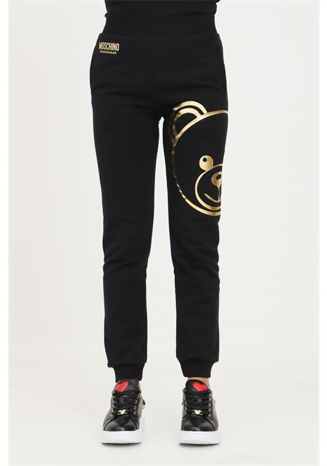 Black women's trousers by moschino, casual model with elastic waistband MOSCHINO | Pants | A430890130555