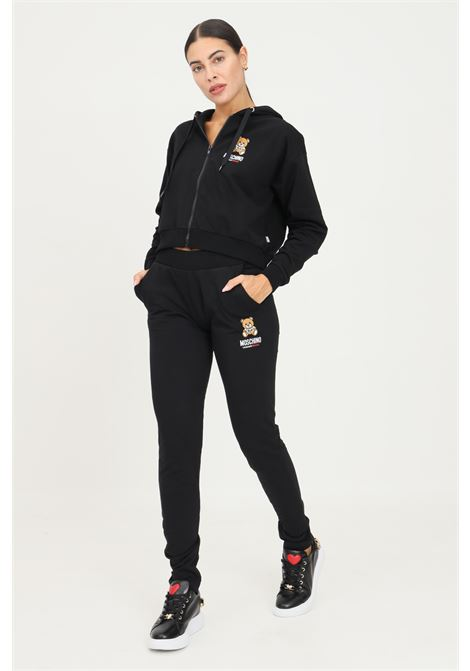 Black women's trousers by moschino, casual model with elastic waistband MOSCHINO | Pants | A432990040555