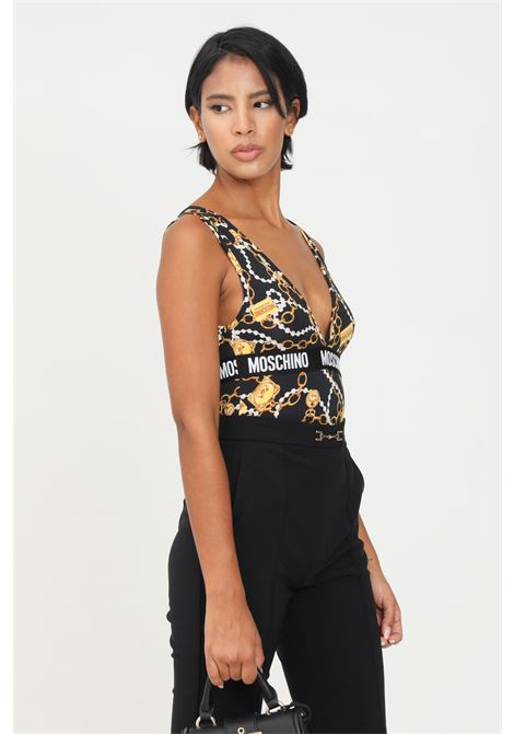 Black gold body by moschino, casual model with contrasting logo band MOSCHINO | Body | A600190091555