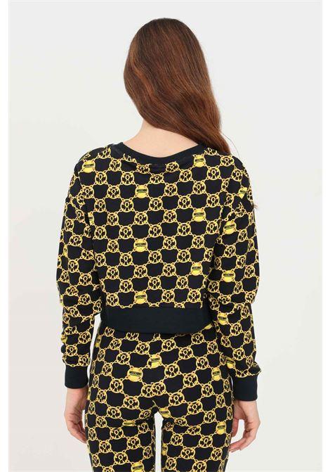 Black women's crew neck sweatshirt by moschino MOSCHINO | Sweatshirt | V172690285606