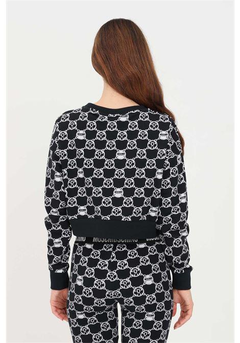 Black women's crew neck sweatshirt by moschino MOSCHINO | Sweatshirt | V172690285610