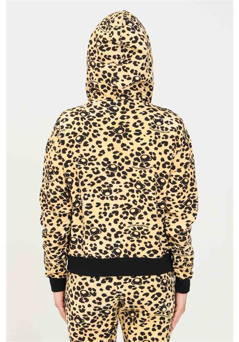 Felpa donna maculato moschino con zip e cappuccio MOSCHINO | Felpe | V173190161888