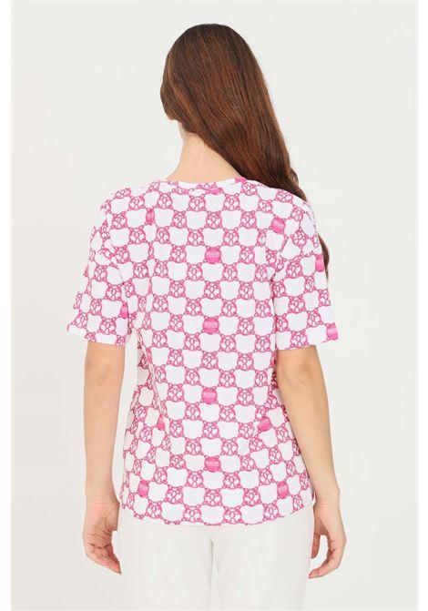 White fuchsia women's t-shirt short sleeve by moschino MOSCHINO   T-shirt   V191990271210