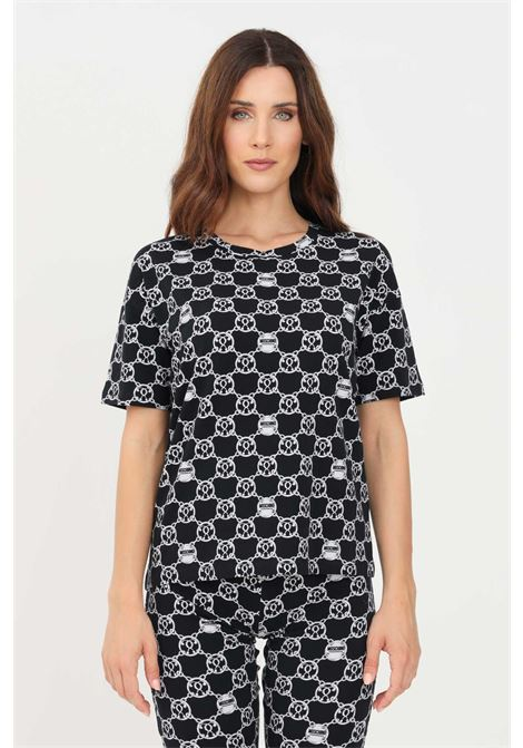 Black white women's t-shirt short sleeve by moschino MOSCHINO   T-shirt   V191990275610