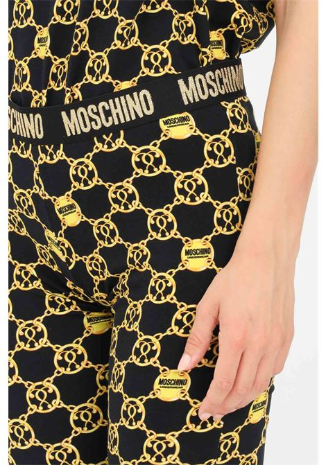 Printed women's leggings with elastic waistband by moschino MOSCHINO | Leggings | V431290275606